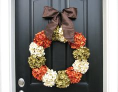 thanksgiving door wreaths ..... I love this, think i'll make this for my door maybe with a letter on it