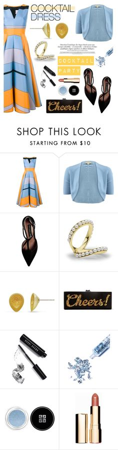 """Cocktail Dress"" by littlehjewelry ❤ liked on Polyvore featuring Roksanda, Michael Kors, Steve Madden, Edie Parker, Bobbi Brown Cosmetics, Glitter Injections, Givenchy, Clarins, cocktaildress and contestentry"