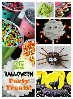 DIY 25 Halloween Party Treats! #halloweenpartytreats #halloweentreats