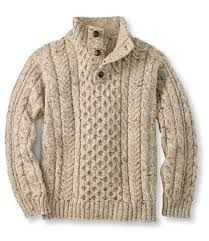 I love pictures of guys in sweaters like this - but do you know any guys who wear heavy sweaters like this? Heritage Sweater, Irish Fisherman's Button-Mock: Henleys and Zip-Necks Sharp Dressed Man, Well Dressed Men, Type Of Pants, Pulls, Men Dress, Knitwear, Men Sweater, Mens Cable Knit Sweater, Brown Sweater