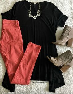 Our Lyndsey Tunic has superior softness. Fabulous loose fit top. 95% Bamboo, 5% Spandex. Made in USA. Model is wearing a small. Top. Casual Top. Black Top. Spring Top. Summer Top. Cute Top. Comfortable Top. #outfit