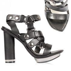 McQ Alexander McQueen Snap Hi Sandal Black   GarmentQuarter