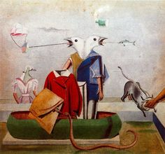 Birds, Fish, Snake, and Scarecrow — Max Ernst