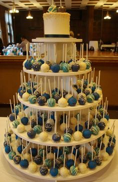 wedding cake alternative....cool but have them look like baseballs