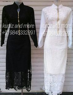 Floor lenght imported lace and jorget kurti From kurtiz and more