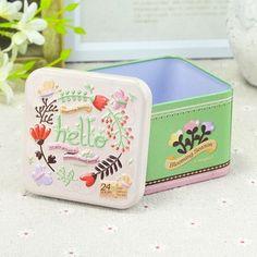 i-mogoo立体浮雕小正方盒 茶叶盒喜糖盒 牛轧糖烘焙包装铁盒