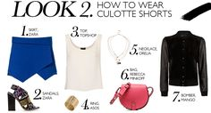 HOW TO WEAR CULOTTE SHORTS