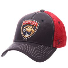 793cadcd9201d Florida Panthers Zephyr Rally Spacer Mesh Flex Hat - Navy Red