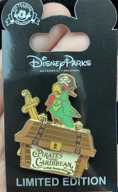 Here is a look at the Pirates of the Caribbean Anniversary Cast Member Pin at Walt Disney World! Disney Trading Pins, Disney Pins, Cast Member, Pin And Patches, Pirates Of The Caribbean, Disney Food, Walt Disney World, Fairy Tales, It Cast