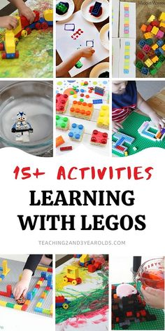 Learning with Legos has never been so fun. This collection builds a variety of skills with toddlers and preschoolers with playful activities! #lego #blocks #learning #skills #literacy #science #math #art #colors #toddler #preschool #2yearolds #3yearolds #teaching2and3yearolds Activities For 2 Year Olds, Train Activities, Classroom Activities, Learning Activities, Preschool Activities, Learning Skills, Classroom Ideas, Toddler Chart, Behavior Chart Toddler
