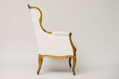 EARLY 20TH CENTURY FRENCH LOUIS XV STYLE GILTWOOD BERGERE