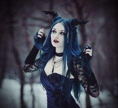 Horned demon #Goth girl
