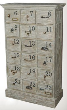 Numbered Drawer Chest