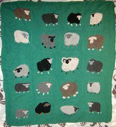 Freeform Crochet Blanket pattern by Kirsti Hallamaa