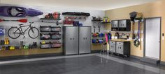 Organizing a garage isn't a one-size-fits-all project, so we've compiled some of our best garage storage ideas. Check out these tips to find ways to make your garage more organized and better to use. Maximize your garage storage space quickly . Garage Organization Systems, Garage Tool Storage, Garage Storage Solutions, Garage Shelf, Wall Storage, Organization Ideas, Storage Ideas, Bike Storage, Storage Systems