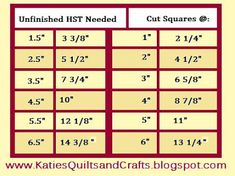 Katie's Quilts and Crafts: Half-Square Triangle Shortcut