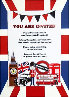 UK London Inspired birthday party and DIY decorations
