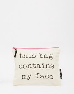 Lola & Gilbert This Bag Contains My Face Pouch | ASOS