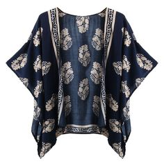 New Zanzea Summer Style Blusas 2016 Women Casual Loose Batwing Sleeve Blouse Tops Print Kimono Cardigan Plus Size S-4XL