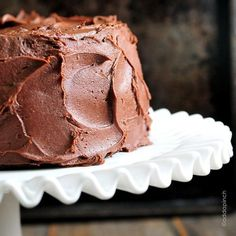 Perfect Chocolate Buttercream Frosting Recipe | Such a decadent chocolate buttercream! Goes so well with my Best Chocolate Cake (Ever) and cupcakes and more! from ©addapinch.com