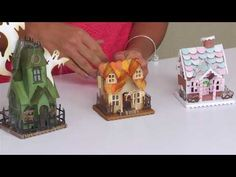 Making DIY Fall Holiday Home Décor Projects with Sizzix Tim Holtz Village…