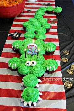Tick Tock Croc Pirate Crocodile Cupcakes