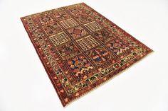 Rust Red 4' 7 x 6' 2 Bakhtiar Persian Rug | Persian Rugs | iRugs UK