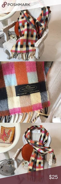 German Hand Tailored Cashmere Scarf German Hand Tailored Cashmere Scarf. Gorgeous, super soft, luxurious fun, chic checkered scarf. Hand tailored in Germany 🇩🇪. Flawless, warm & lightweight - perfect for winter!   •Bundle Likes for Serious $avings •Get UP TO 40% OFF & FREE Gift! •Questions? Just reach out! Happy Poshing!! German Accessories Scarves & Wraps