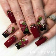 Beautiful nails by Ugly Duckling Nails page is dedicated to promoti. Xmas Nails, Holiday Nails, Christmas Nails, Pretty Nail Colors, Pretty Nails, Best Acrylic Nails, Acrylic Nail Designs, Fabulous Nails, Gorgeous Nails