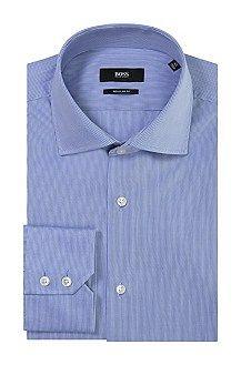 Regular fit business shirt 'Gerald' with shark collar, Blue