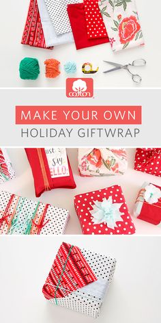 The sustainable way to holiday. Turn your kitchen linens (or everyday cotton fabric) into holiday giftwrap with this super easy how-to from us and @britandco