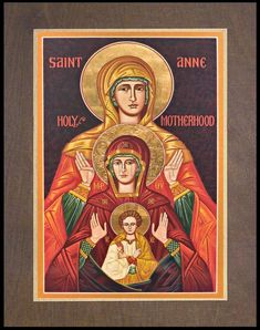 St. Anne by J. Cole | Catholic Christian Religious Art - Wood Plaque Premium - From your Trinity Stores crew. Frames On Wall, Framed Wall Art, Silver Walls, St Anne, Art Icon, Wood Plaques, Orthodox Icons, Religious Art, Catholic