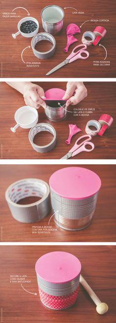 Tambor de lata e bexiga / Bottle Cap Tambourines