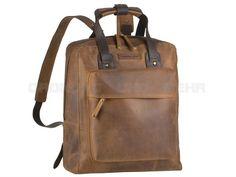Harold's ANTICO - Leder Rucksack zum Wandern, Business oder Schule - antikbraun