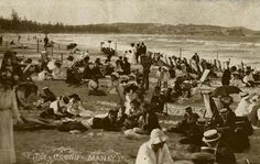 Manly Beach in the Northern Beaches region of Sydney in the  1880s.