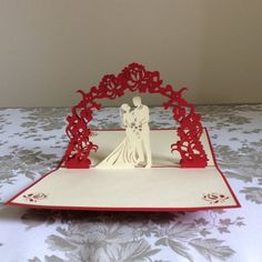 Hey, I found this really awesome Etsy listing at https://www.etsy.com/listing/242303648/wedding-pop-up-card-regular