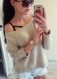 Kup mój przedmiot na #vintedpl http://www.vinted.pl/damska-odziez/swetry-z-dzianiny/12389337-bezowy-sweterek-sweter