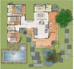 Projeto de casa Morada do Sol - Cód. 29 | Só Projetos