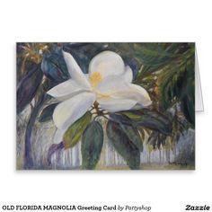 OLD FLORIDA MAGNOLIA Greeting Card