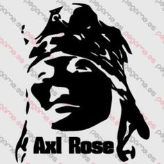 Pegame.es Online Decals Shop  #music #band #rock #group #axl_rose #guns_and_roses #vinyl #sticker #pegatina #vinilo #stencil #decal