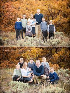 Fall family photos  |   family photography  |  children's photography  |  family of 8  |  family posing ideas  |  fall colors  |  Kate Jeppson Photography www.katejeppson.com www.katesphotoblog.com www.facebook.com/katejeppsonphotography