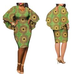 Latest African clothes casual dress for women, O-neck and V-back cloak sleeves knee-length dress African American Fashion, African Fashion Ankara, Latest African Fashion Dresses, African Inspired Fashion, African Print Fashion, Africa Fashion, Short African Dresses, African Print Dresses, African Clothes