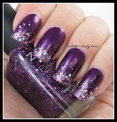 Glitter-tips-nail-artz; Zoya Haven base with glittering Zoya Thea ombre tips