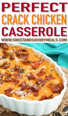Mexican food recipes 34128909663437197 - Cheesy Crack Chicken Casserole is the perfect dish to feed a large crowd. Cheesy and loaded with tender chicken and topped with crispy bacon. Source by sweetandsavorymeals Easy Casserole Recipes, Casserole Dishes, Crockpot Recipes, Cooking Recipes, Breakfast Casserole, Recipe For Chicken Casserole, Casseroles With Chicken, Recipes With Chicken, Cheesy Chicken Noodle Casserole
