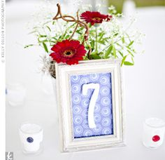 DIY Wedding ideas!  Painted Table Numbers  @Stephanie Close Phillips
