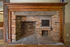 New farmhouse brick fireplace early american Ideas Primitive Fireplace, Farmhouse Fireplace, Cozy Fireplace, Fireplace Design, Fireplace Ideas, Primitive Kitchen, Colonial Kitchen, Farmhouse Style Kitchen, Country Farmhouse