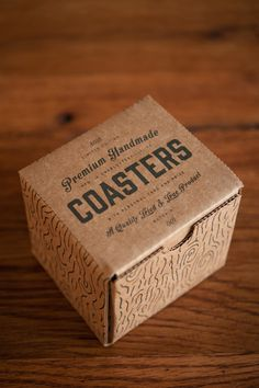 Premium Handmade Coasters by Brain Brubaker and Tired & True Supply Co