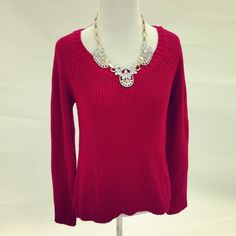 Red Fall Sweater Hi-low sweater perfect for Fall layering. Super cozy and soft! Sweaters