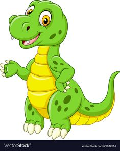 Find Cartoon Funny Green Dinosaur stock images in HD and millions of other royalty-free stock photos, illustrations and vectors in the Shutterstock collection. Thousands of new, high-quality pictures added every day. Dinosaur Images, Cartoon Dinosaur, Cute Dinosaur, Dinosaur Pictures, Disney Cartoons, Funny Cartoons, Dream Catcher Vector, Line Art Flowers, Inkscape Tutorials