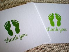 Items similar to Gender Neutral Thank You Cards for Baby Shower - Set of 10 Baby Footprints Thank You Note Cards - For Baby Boy or Girl - Lime or Olive Green on Etsy Baby Thank You Cards, Thank You Notes, Shower Set, Baby Shower, Baby Footprints, Keep It Simple, New Baby Gifts, Gender Neutral, Hand Drawn